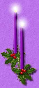 left Advent candles