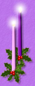 right Advent candles