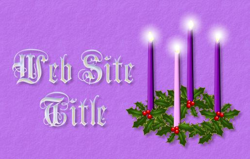 sample advent title graphic